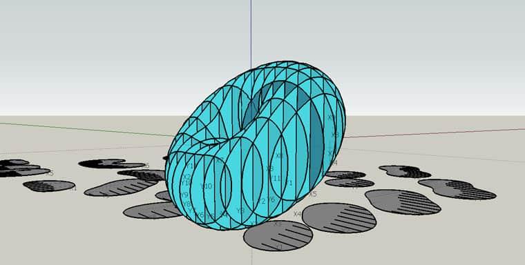 איך חותכים מודלים לפרוסות בסקצ'אפ? 2