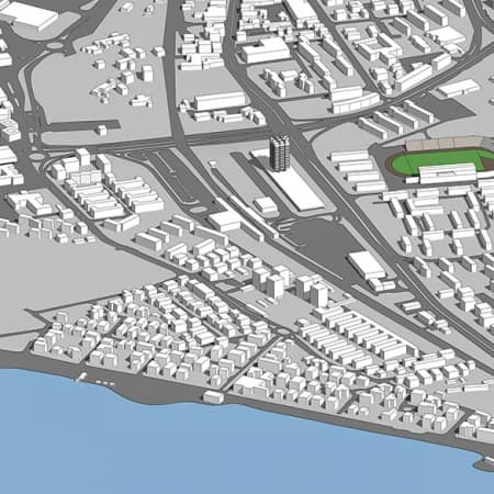 מודל סקצ'אפ של חיפה 2