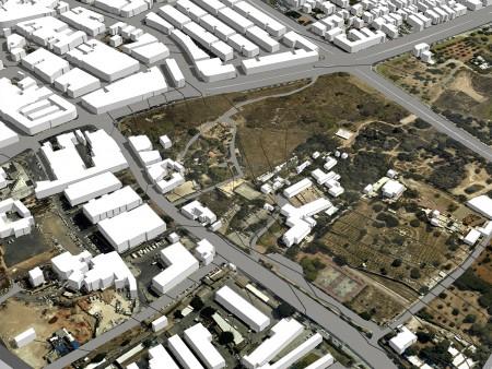 מודל סקצ'אפ של פארק החורשות 1