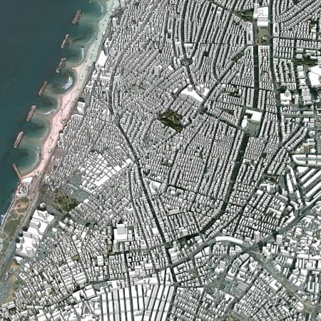 מודל סקצ'אפ של תל אביב 3