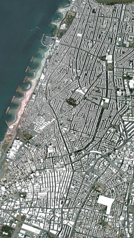 מודל סקצ'אפ של תל אביב 1