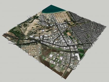 מודל מפורט וממוקד - מפרץ חיפה 1