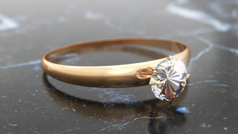 איך מרנדרים טבעת יהלום עם ויריי? 2