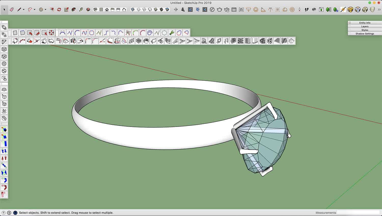 איך מרנדרים טבעת יהלום עם ויריי? 10