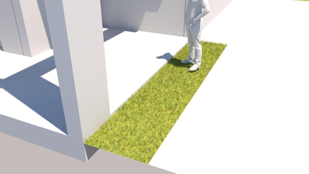זה עם MATERIAL OVERRIDE מלבד ריבוע בדשא