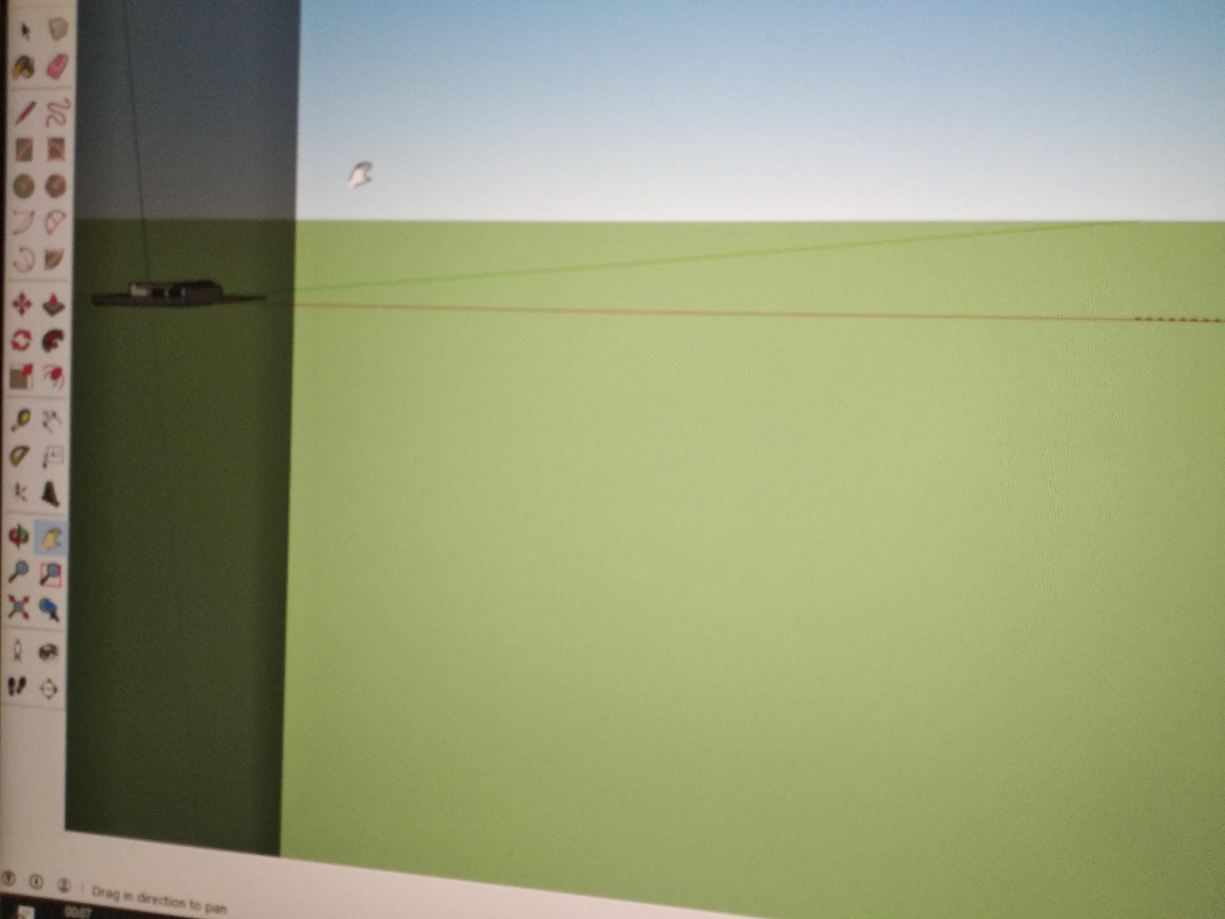 """עזרה  הופיע על צד שמאל של המסך מלבן כהה צר וארוך. מצ""""ב תמונה 3"""
